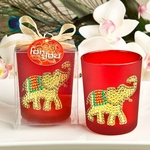 Ruby Red Good Luck Elephant Candle Holder