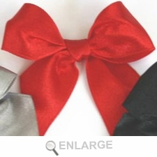 Satin Bows Shimmer Red Pre-Made Ribbon Bows Set/12