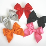 Satin Bows-Shimmer White and More Colors Set/12