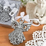 Silver Angel Ornament with Antique Finish Favors
