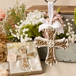 Stunning Vintage Design Cross Ornament Religious Themed Favors