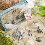 Unique Beach Themed Wine Charms Favors