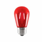 BULBRITE 2W LED Sign & Half Chrome Filament Red Light Bulb - 776563