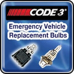 Code 3 Emergency Vehicle Replacement Bulbs and Beacons