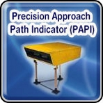 Airport PAPI Lighting System - Precision Approach Path Indicator (PAPI)