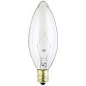 Westinghouse 60B10/FAN/CB/CD2 Torpedo Candelabra Base Incandescent Light Bulb