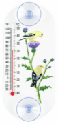 Goldfinches and Thistle Window Thermometer