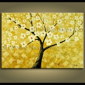 Abstract Floral Blossom Tree