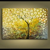 Abstract Floral Painting Blossom Tree