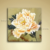 Abstract Flower Impressionist Painting Oil Contemporary Canvas Wall Art
