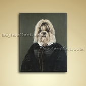 Animals With Famous Faces Picture Oil On Canvas Home Wall Art Decor