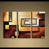 Art Wall 3-piece Abstract Modern Gallery Wrapped Canvas Art By Bo Yi Gallery