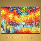 Astonishing Original Impressionist Palette Knife Oil Painting On Canvas For Bed Room