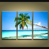 Beautiful Contemporary Wall Art Seascape Painting Beach Canvas Stretched