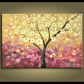 original abstract tree oil painting large wall art on canvas contemporary