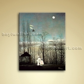 Carnival Evening Henri Rousseau Landscape Painting Giclee Oil Canvas Wall Art