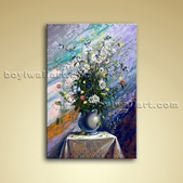 Classical Abstract Bouquet Flower Painting Oil Canvas Wall Art For Kitchen