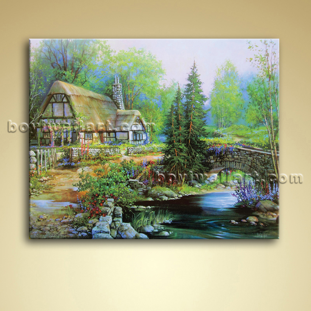 Classical Abstract Landscape Painting Oil On Canvas Wall