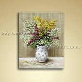 Classical Abstract Still Life Flower Bouquet Painting Oil Canvas Wall Art
