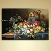 Classical Food Beverage Painting Giclee Oil On Canvas Wall Art Decor