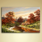 Classical Landscape Painting Picture Oiled On Canvas Home Wall Art Decor