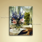 Classical Oil Painting Picture Giclee Oil On Canvas Abstract Flower Bouquet
