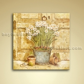 Classical Oil Painting Oil Canvas Wall Art Retro Abstract Flower Home Decor