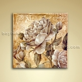 Classical Oil Painting Oil Canvas Wall Art Retro Abstract Gardenia Flower