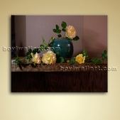 Classical Oil Painting Oil On Canvas Rose Flower Still Life Home Decor