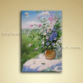 Classical Painting Oil Canvas Wall Art Bedroom Decor Flower Bouquet