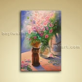 Classical Painting Oil Still Life Picture Abstract Floral Wall Art Stretched