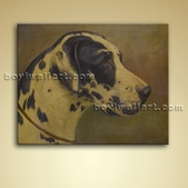 Classical Portrait Dog Painting Oil Canvas Wall Art Picture Gallery Wrapped