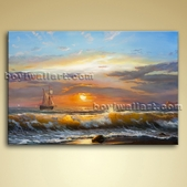 Classical Seascape Oil Painting Giclee Oil Canvas Wall Art Beach Sea Waves