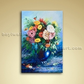 Classical Still Life Bouquet Flower Painting Oil Canvas Bathroom Wall Art