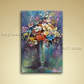 Classical Still Life Bouquet Flower Painting Oil On Canvas Bedroom Wall Art
