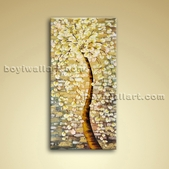 Contemporary Abstract Floral Oil Painting Giclee Oil On Canvas Blossom Tree