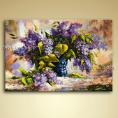 Contemporary Abstract Floral Painting Oil Bedroom Wall Art On Canvas