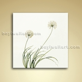 Contemporary Abstract Floral Painting Oil Dandelion Flower Picture Canvas