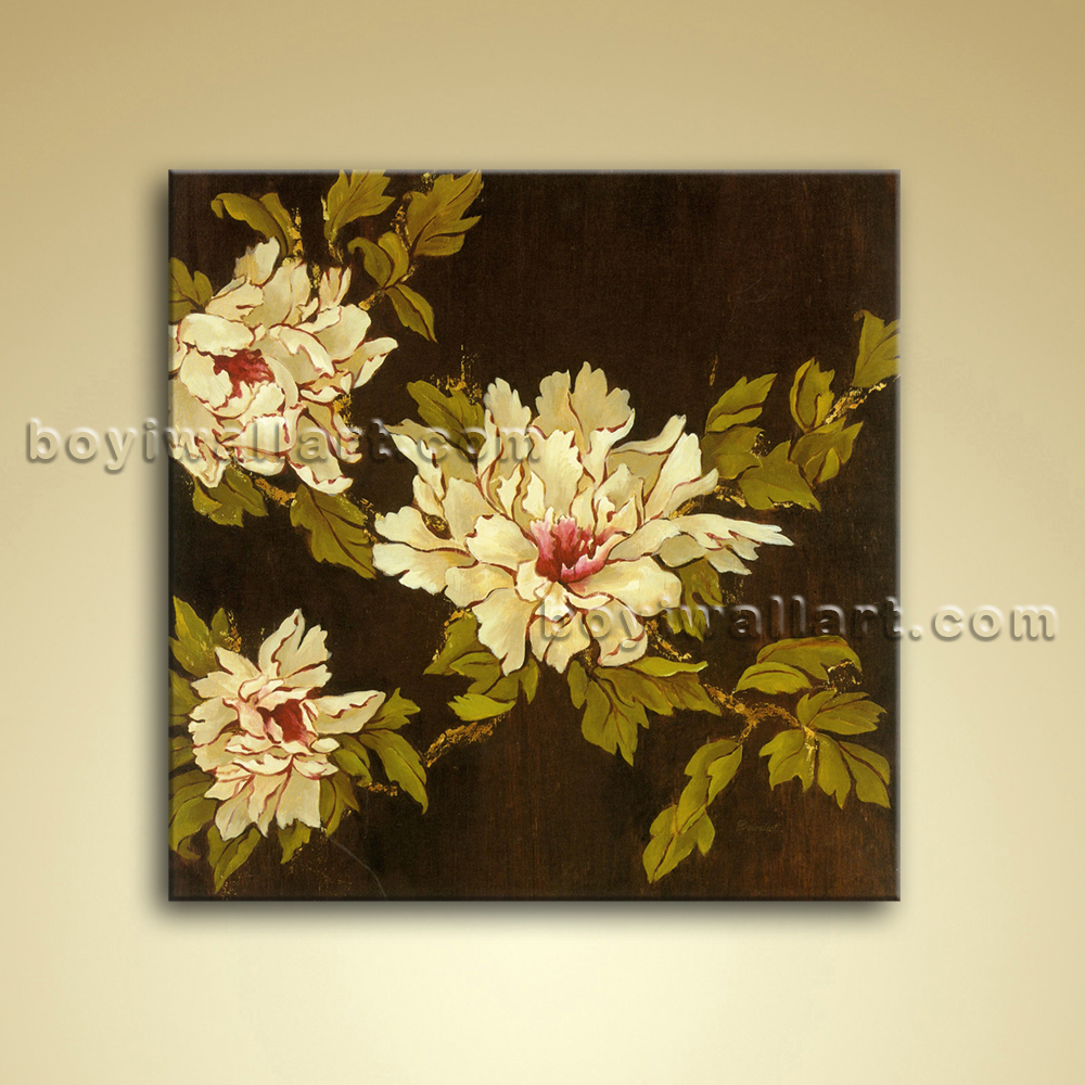 Abstract Floral Painting Oil Picture On Canvas Wall Art Decor