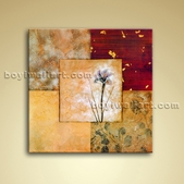 Contemporary Abstract Floral Painting Oil Picture On Canvas Wall Art Decor