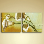 Contemporary Abstract Wall Art Oil Floral Painting Bathroom Home Decor
