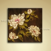 Contemporary Floral Painting Peony Flowers Picture Oil Ready To Hang