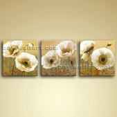 Extra Large Canvas Wall Art Oil Modern Abstract Floral Painting Poppy Flowers