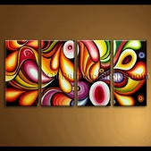 Extra large Canvas Wall Art Rainbow Colorful Abstract Painting Contemporary pic