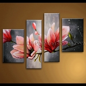 extra large wall art abstract floral oil painting on canvas tulip flowers framed