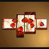 extra large wall art abstract florl painting on canvas ready to hang artwork