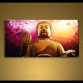 extra large wall art feng shui original abstract buddha oil painting zen decor