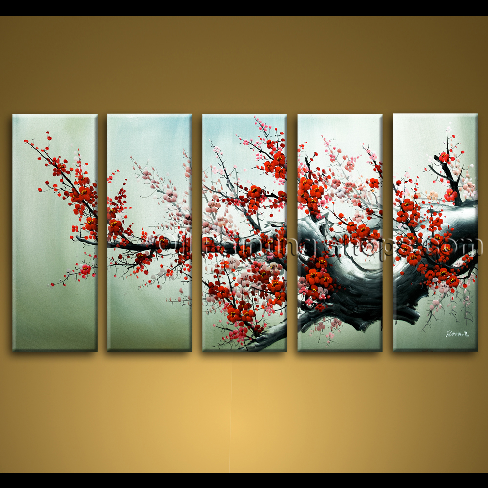 Wall Art Hand Painted Abstract Floral Oil Painting Canvas Original