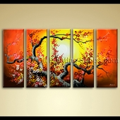 extra large wall art hand painted abstract floral oil painting original unique