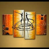 extra large wall art hand painted abstract oil painting on canvas dancing